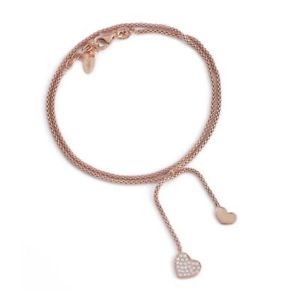【送料無料】ブレスレット カフアーメンシルバーペンダントbracciale amen babr1 con ciondolo cuore con zirconi in argento 925 rosato