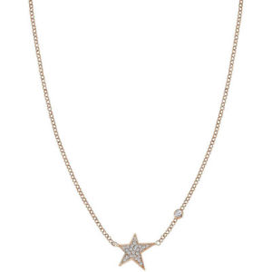 【送料無料】ブレスレット ネックレスシルバーローズcollana donna argento rose con zirconi stella nomination 146708011