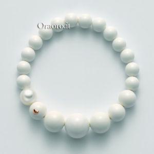 【送料無料】ブレスレット ホワイトコーラルゴールドbracciale elastico donna miluna terra e mare perla corallo bianco e oro pbr1807