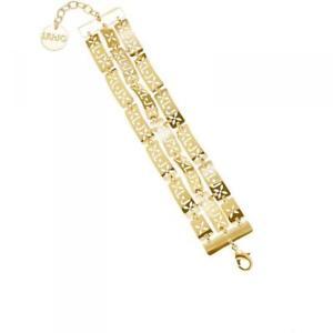 【送料無料】ブレスレット カフリュジョゴールドレディーbracciale donna liu jo luxury glamour lj745 ottone gold lady