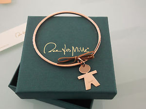 【送料無料】ブレスレット シルバーbracciale donna rigido con charms in argento 925 color ros rue des mille