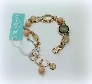 【送料無料】ブレスレット カフソブリンバラbracciale donna sovrani bijoux parzialmente placcato oro rose cristalli