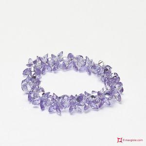 50 cm CATENA LILLA LAVORATA ALLUMINIO 14x10 mm x BRACCIALI COLLANE lilac chain