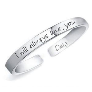 【送料無料】ブレスレット シルバーカスタムブレスレットbracciale in argento 925 personalizzato i will always love you