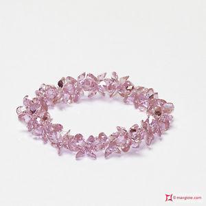 【送料無料】ブレスレット カフピンクジルコン**mg** bracciale zircone rosa 166,5 ct