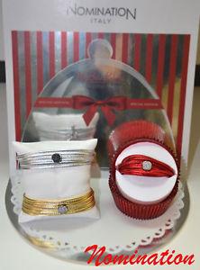 【送料無料】ブレスレット ブレスレットブレスレットマイボンボンbracciale cuoio nomination leather bracelet pav zirconi zircons my bon bons