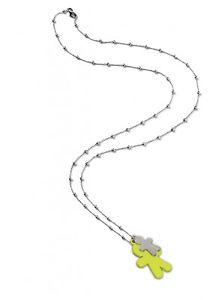 【送料無料】ブレスレット tino generation collana con doppio ciondolo verde
