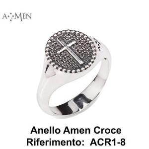 【送料無料】ブレスレット シルバーリングコレクションアーメンクロスコードanello argento 925 collezione padre nostro amen con croce codice acr118