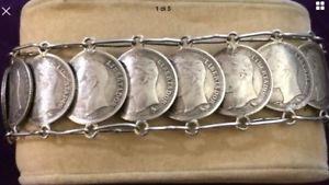 【送料無料】ブレスレット カフbracciale monete argento bolivar libertador