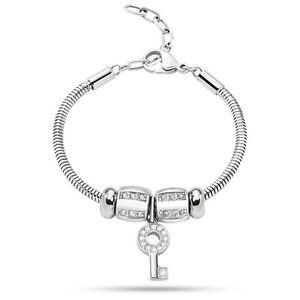 【送料無料】ブレスレット ファッションブレスレットドロップスチールmoda bracciale morellato drops donna acciaio e zirconi scz623