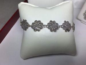 【送料無料】ブレスレット サルダモデルカフbracciale da donna in argento cm filigrana sarda modello fiore lungo cm18