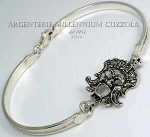 【送料無料】ブレスレット カフシルバーマスクマグナシルバーマスクbracciale maschera argento apotropaica magna grecia crotone kroton silver mask