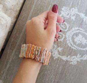 【送料無料】ブレスレット ブレスレットシェルカットラバーブレスレットシーシェルbraccialetto conchiglie tagliate, braccialetto elastico mare conchiglia