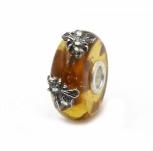 【送料無料】ブレスレット ビードオレンジtrollbeads bead in ambra ali del tempo doppio insetto tambe00020 12
