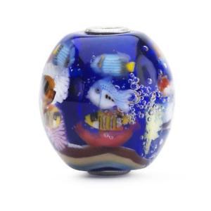 【送料無料】ブレスレット ガラスtrollbeads vetro in fondo al blu edizione limitata tglbe00160