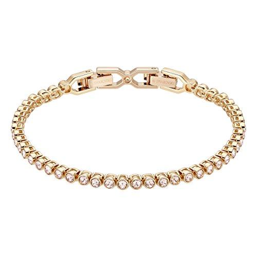 【送料無料】ブレスレット スワロフスキーブレスレットエミリーピンクピンクswarovski braccialetto emily, rosa, placcato oro rosa