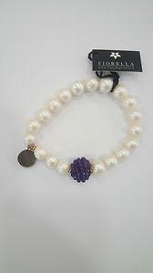 【送料無料】ブレスレット カフアメジストbracciale fiorella perle e ametista donna lbr4022ag