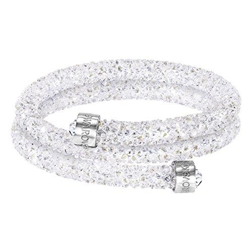 【送料無料】ブレスレット スワロフスキーメタルブレスレットダブルホワイトswarovski bracciale rigido crystaldust double, bianco