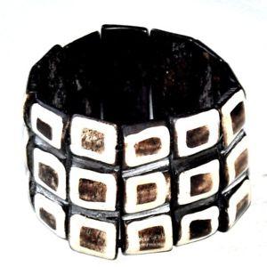 【送料無料】ブレスレット ブレスレットマンシェットnuova inserzionelarge bracelet manchette ethnique lastique matire naturelle dfinir bijou