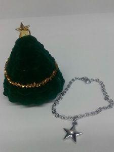 【送料無料】ブレスレット クリスマスパッケージクリスマスブレスレットステラnatale bracciale bigiotteria stella e strass idea regalo in confezione natalizia