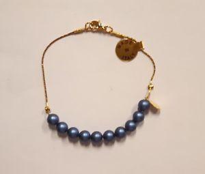 【送料無料】ブレスレット シルバーゴールドビーズマドンナメダルrosario decina bracciale in argento 925 dorato perline e medaglia della madonna
