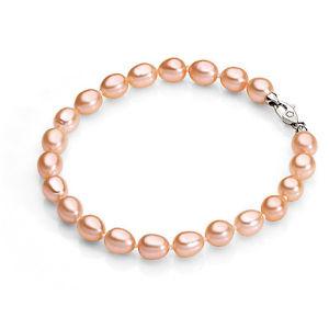【送料無料】ブレスレット アンブロシアカフオーバルサーモンambrosia bracciale perle coltivate ovali salmone abp 005