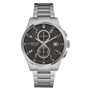【送料無料】ブレスレット ノーティカスチールクロックマンブラッククロノグラフnautica orologio acciaio uomo nad19559g cronografo nero datario man uhr nuovo