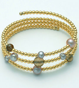 【送料無料】ブレスレット ブレスレットカラーシルバーゴールドギャグbracciale argento color oro donna perle miluna vertigo pbr1717gag silver vortice
