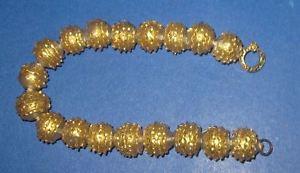 【送料無料】ブレスレット カフゴールドガラスボールbracciale da donna, sfere di vetro siato con oro zecchino