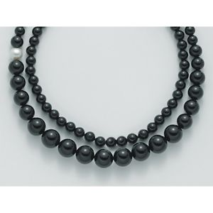 【送料無料】ブレスレット ネックレスレースシルバーオニキスブラックバロックブラックcollana laccio donna miluna pcl4659v argento perle nero onice nera barocca