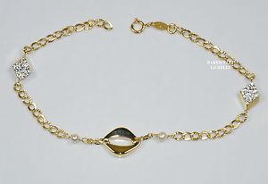 【送料無料】ブレスレット ブレスレットイエローゴールドbracciale oro giallo 18 kt donna 19,5 cm gr 1,6 sottocosto