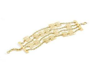 【送料無料】ブレスレット カフリュジョラグジュアリーマルチゴールデンチェーンbracciale donna liu jo luxury lj671 multi catena dorato piastrine traforate