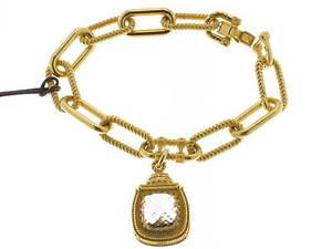 【送料無料】ブレスレット レベッカカフローマブロンズイエローゴールドrebecca bracciale roma bronzo placcato oro giallo e quarzo bianco broksb83
