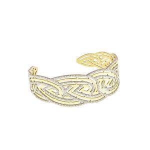 【送料無料】ブレスレット カフゴールドシルバーコレクションbracciale stroili oro in argento dorato e glitter collezione vanit st1607946