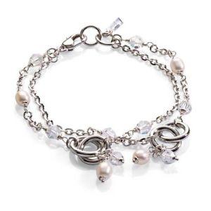 【送料無料】ブレスレット bracciale donna zoppini argento e perle h1620_5269