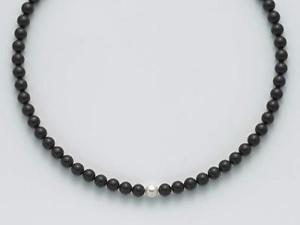 【送料無料】ブレスレット ネックレスオニックスブラックパールcollana miluna pcl4447v argento 9251000 con onice nera e perla