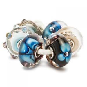 【送料無料】ブレスレット ガラスインディゴビーズtrollbeads 6 beads in vetro set indaco tglbe00037
