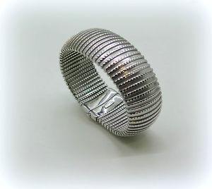 【送料無料】ブレスレット bracciale donna tubogas in argento 925 peso 42 gr semirigido listino 185,00