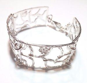 【送料無料】ブレスレット カフシルバーbracciale da donna in argento 925 fatto a mano b105