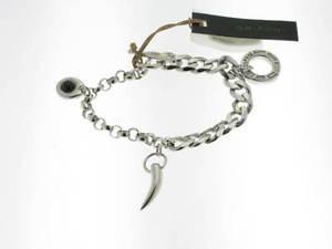 【送料無料】ブレスレット シルバーペンダントブレスレットgrifoni bracciale charms in argento 3 pendenti referenza 001br0027