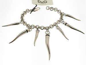 【送料無料】ブレスレット ブレスレットスチールコショウdamp;g bracciale pepper pendenti cornetto in acciaio referenza dj0027