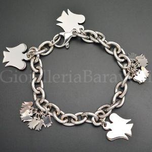 【送料無料】ブレスレット カフロベルトシルバーbracciale roberto giannotti gia123 argento angeli charms 18,5 cm donna nuovo