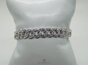 【送料無料】ブレスレット bracciale in argento con zirconi bianchi