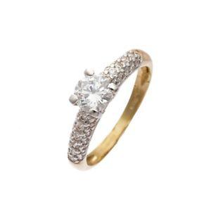 【送料無料】ブレスレット リングイエローゴールドanello donna oro bianco e giallo con zirconi 3795b103j