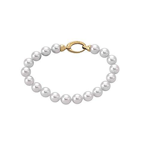 【送料無料】ブレスレット ブレスレットホワイトパールmajorica braccialetto 19cm di lunghezza, 8mm, perle bianco