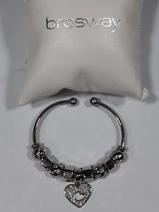 【送料無料】ブレスレット メタルブレスレットミニトレスジョリーbracciale rigido brosway mini tres jolie con 9 charms listino 140,00