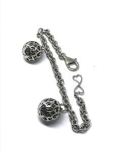 【送料無料】ブレスレット ブレスレットボールbracciale in argento infinity due sfere