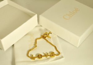 【送料無料】ブレスレット chlo bracciale a catena in ottone messages love boxed