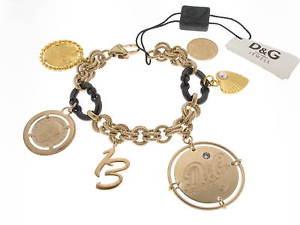 【送料無料】ブレスレット カフトークンゴールデンスチールdamp;g bracciale token money charms acciaio dorato referenza dj0480