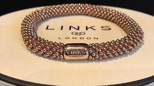 【送料無料】ブレスレット ロンドンローズゴールドブレスレットリンクlinks of london 18ct rose oro vermeil effervescenza braccialetto rrp 29500